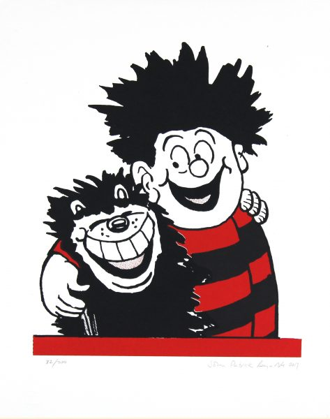 Dennis the Menace Hugs Gnasher_Framed_Medium_19x15