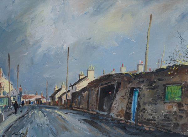 Douglas Phillips_Sunny Squall in the Neuk_Oil_15x21