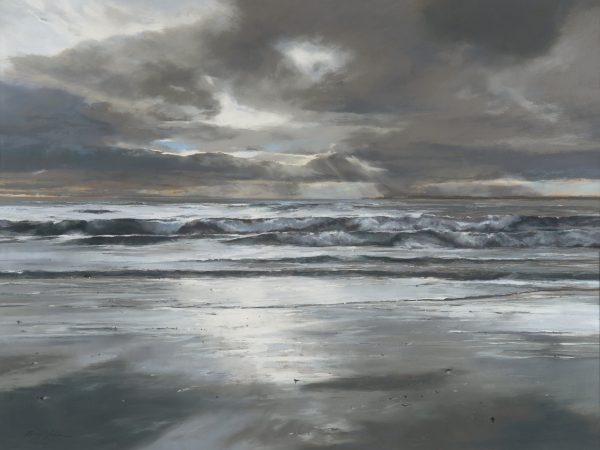Fiona Haldane_Pastel_Morning Tide, Tay Estuary_36x48