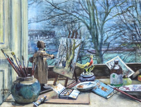 James McIntosh Patrick_The Little Artist (Artist studuios)_Watercolour_12.5x16.5