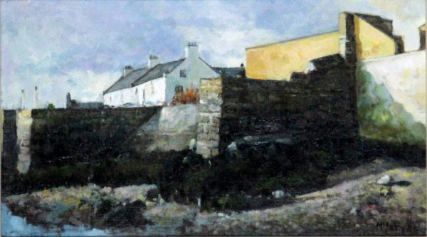 Joe McIntyre_Beach Study, Broughty Ferry Harbour_Oil_11.5x20