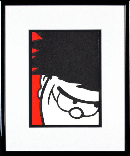 John Patrick Reynolds_Dennis the Menace Grins_15x13_Framed copy