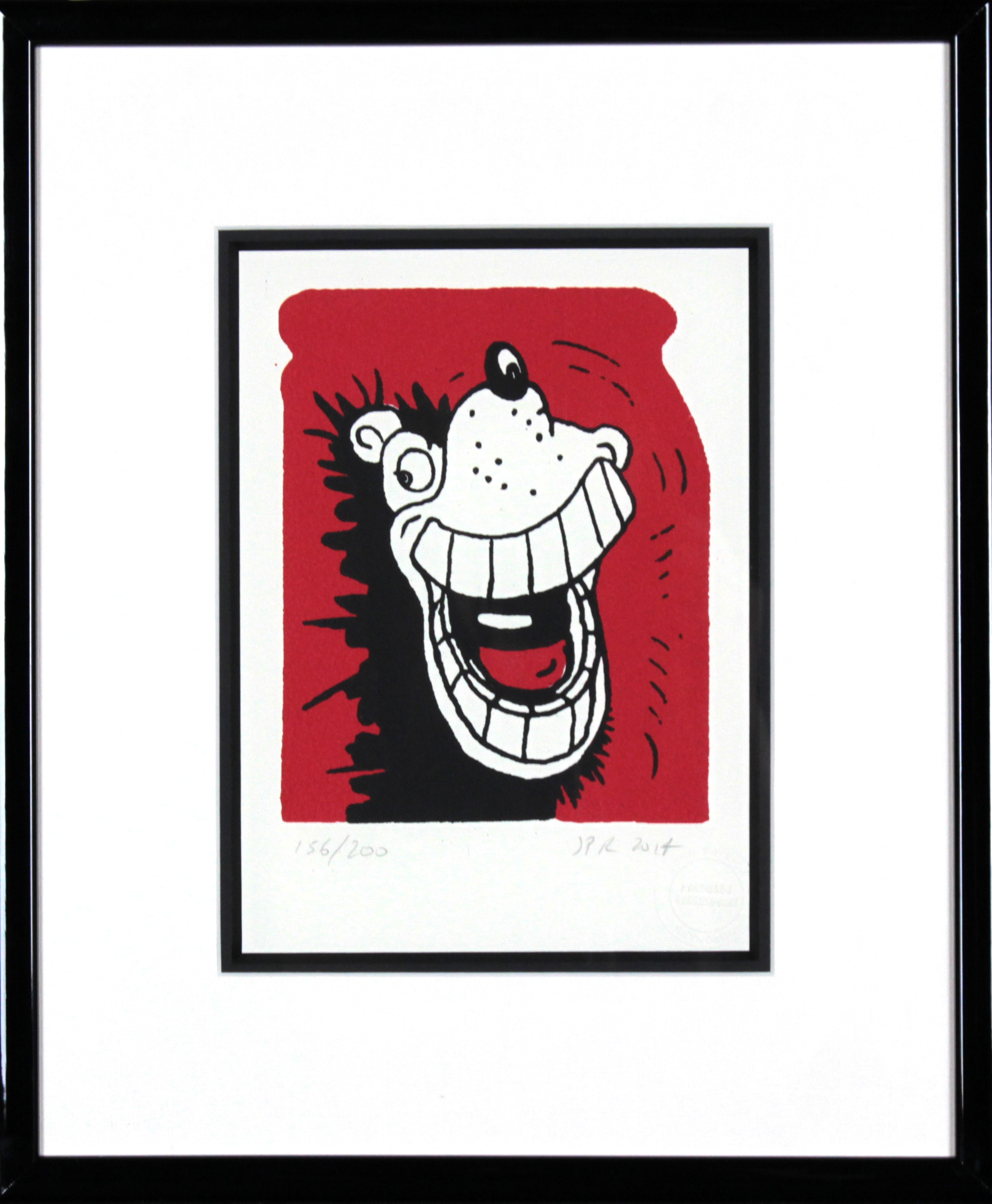 Gnasher Gnashes- Small (framed) - EAS Art Gallery Dundee
