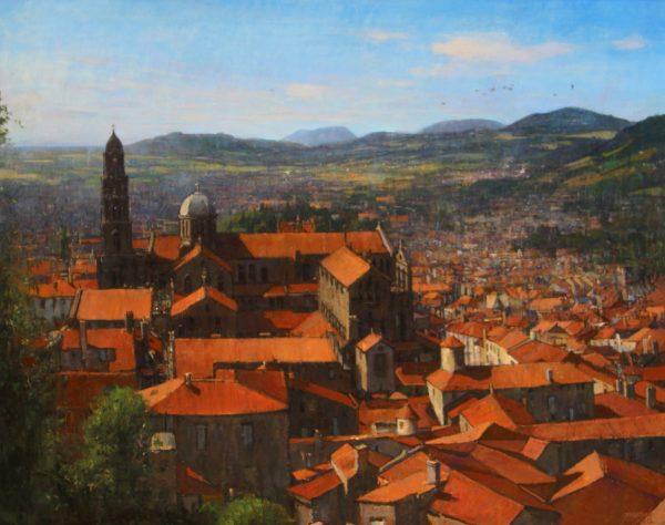 Jonathan Mitchell_Oil_Le Puy en Velay, Auvergne_31x38.5