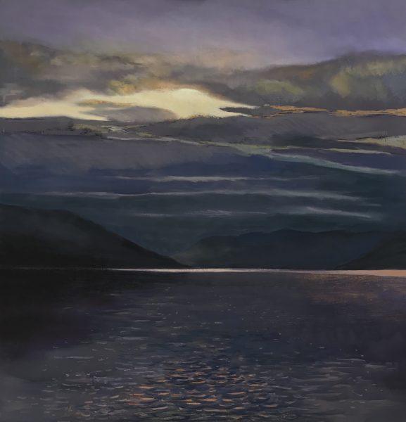Margaret Evans_A Brooding Sky, Loch Earn_Pastel & Gouache_30x30