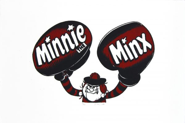 Minnie the Minx Boxes_Framed_Medium_15x19