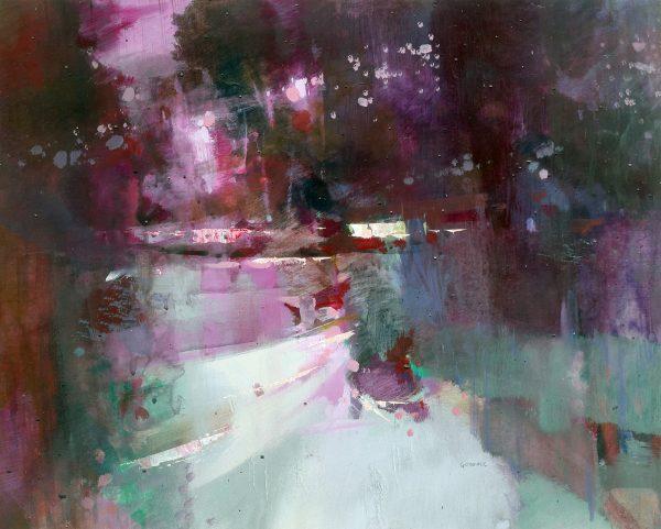 Oscar Goodall_Reflections, Perthshire_Acrylic_c2004_17x21.5