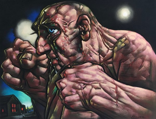 Peter Howson_Gentlemen's Legue_Pastel_18x24