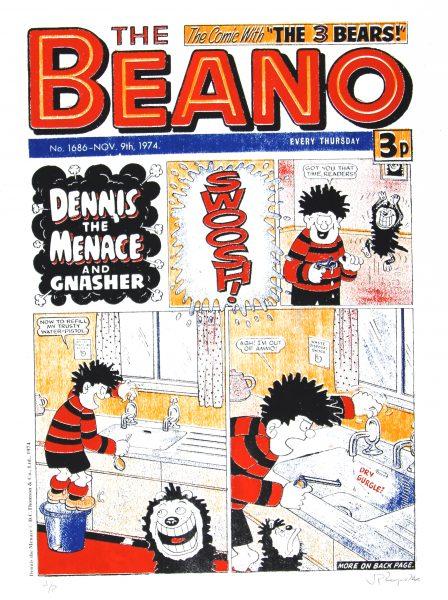 The Beano, Dennis the Menace & Gnasher_Large_Unframed_30x22