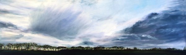 Kate Cunningham_Original_Oils_Clouds over Pitskelly_12 x 39