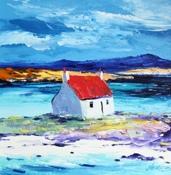 Kevin Fleming_Original_Acrylics_Cottage at Ardmhor, Barra_ (1)