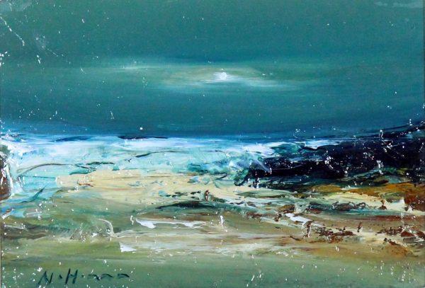 Nael Hanna_Original_Mixed Media_St. Andrews Beach_img 6 x 9