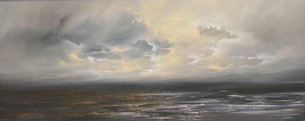 Philip Raskin_Original_Oils_Soft Dawn, Western Isles_24 x 60