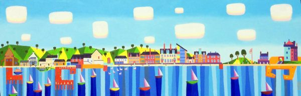 Ross Grant Thomson_Original_Acrylic_Broughty Ferry Waterfront_36x12 WEB (1)