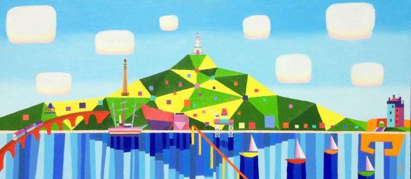Ross Grant Thomson_Original_Acrylic_Sunshine on Dundee_36x16 WEB (1)