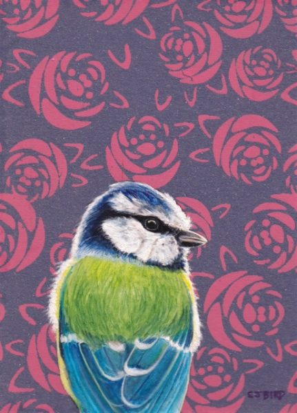 Stanley Bird_Original_Acrylics_Roses are Red_img size 6 x 4_fmd 10 x 8 £300