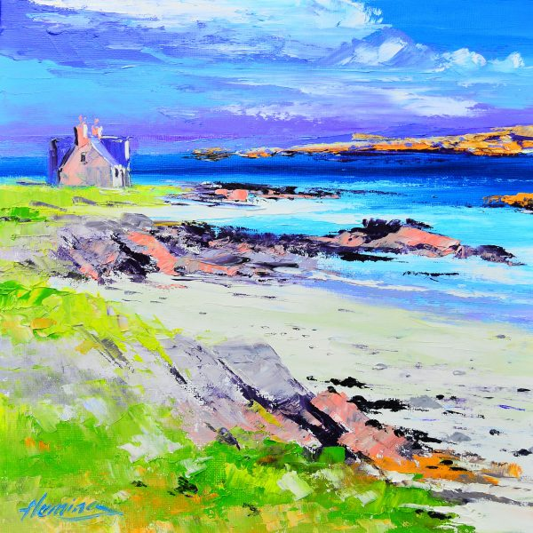 Kevin Fleming_Original_Acrylics_ Bishop's House, Iona_img 12 x 12_fmd 17 x 17
