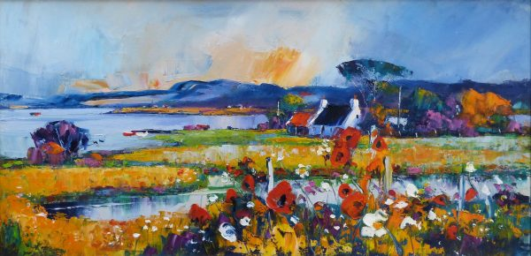 Poppies on the forreshorre, Bridgend, Islay
