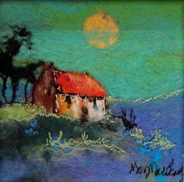 Moy Mackay_Original_Felted Merino Wool_ Buttercup Moon_ 5x5