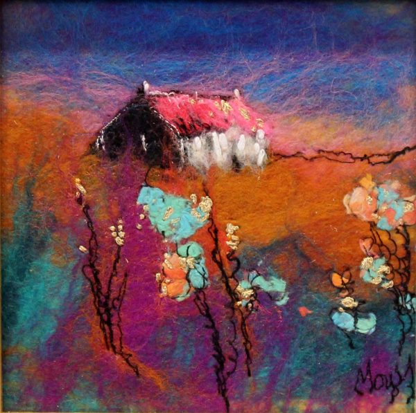 Moy Mackay_Original_Felted Merino Wool_ Candy Cottage_ 6x6_