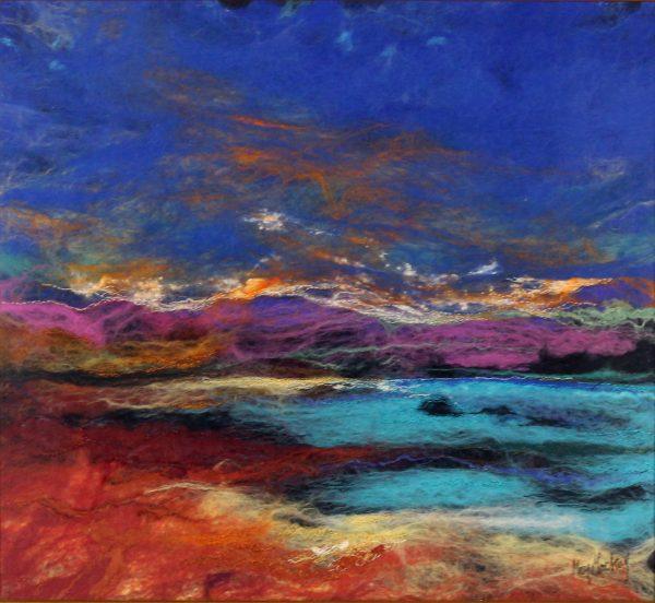 Moy Mackay_Original_Felted Merino Wool_ Gallanch Bay_unframed 23 x 24