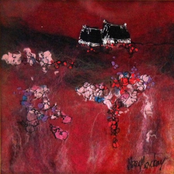 Moy Mackay_Original_Felted Merino Wool_ On Raspberry Hill_ 7x7