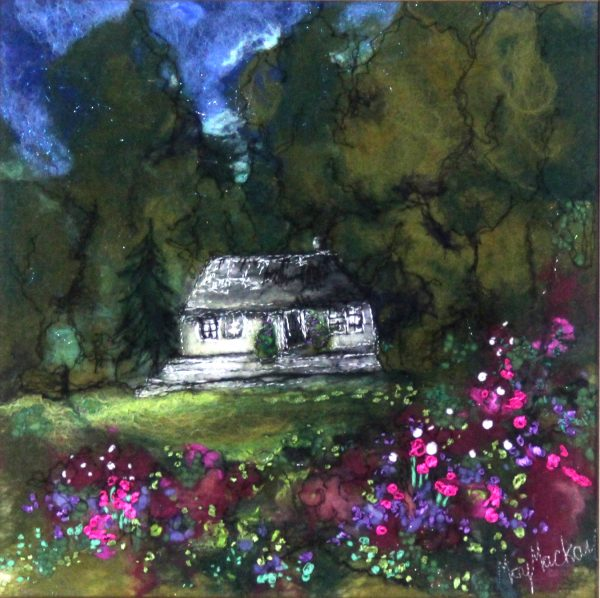 Moy Mackay_Original_Felted Merino Wool_ The Cottage_unframed 11 x 11