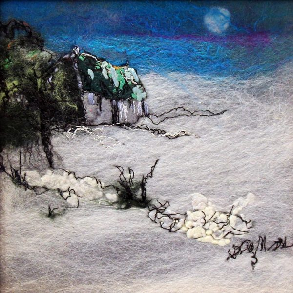 Moy Mackay_Original_Felted Merino Wool_ Winter Moon I_ 6x6