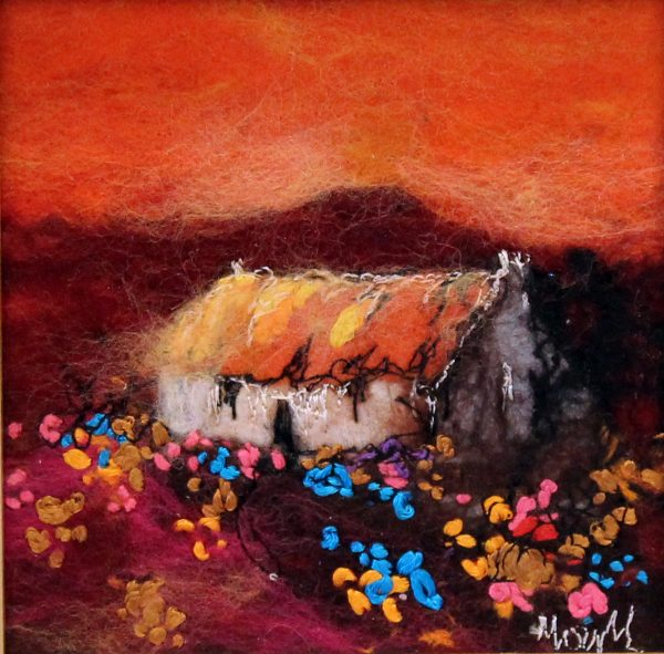 Moy Mackay_Original_Felted Merino Wool_Sweet Tangerine_ 5x5_