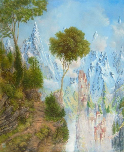 Alister Lindsay_A Mountain Path_Oils_