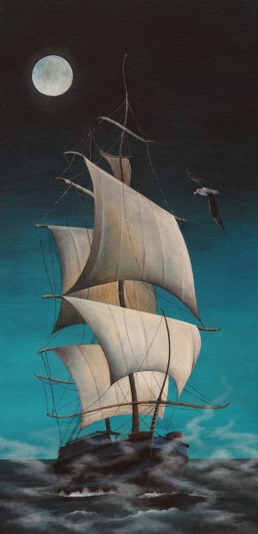 Gail Stirling Robertson_A Painted Ship Upon a Painted Ocean_16x32
