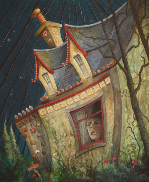Gail Stirling Robertson_Gingerbread Cottage_20x24