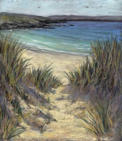 Gina Wright_Meal Beach, Barra, Shetland_Pastel_19.5x16.5