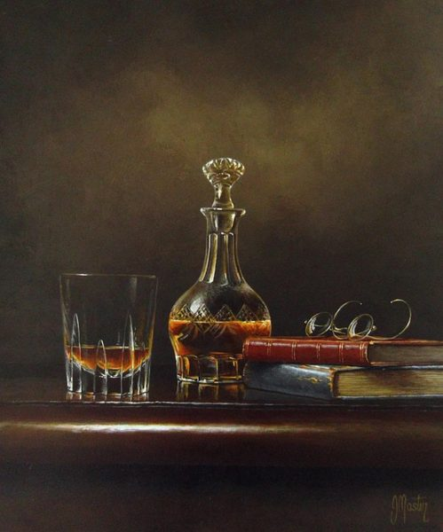 Ian Mastin_A Late Night Tot_Acrylics_12x10