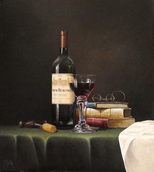 Ian Mastin_Chateau Beaumont_Acrylics_18x16