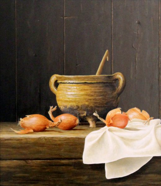 Ian Mastin_Cooking Pot with Onions_Acrylics