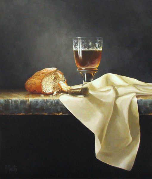 Ian Mastin_Crusty Bread with Ale_Acrylics_14x12