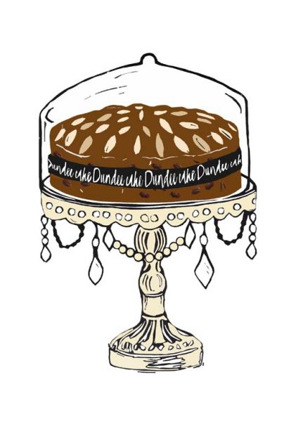 Laura Nicoll_SIgned Digital Print_Dundee Cake_Cream