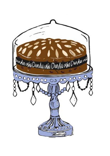 Laura Nicoll_SIgned Digital Print_Dundee Cake_Lavender