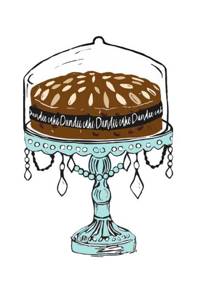Laura Nicoll_SIgned Digital Print_Dundee Cake_Mint