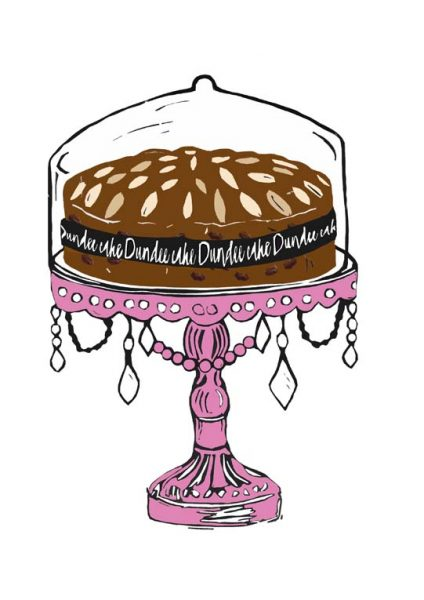 Laura Nicoll_SIgned Digital Print_Dundee Cake_Pink