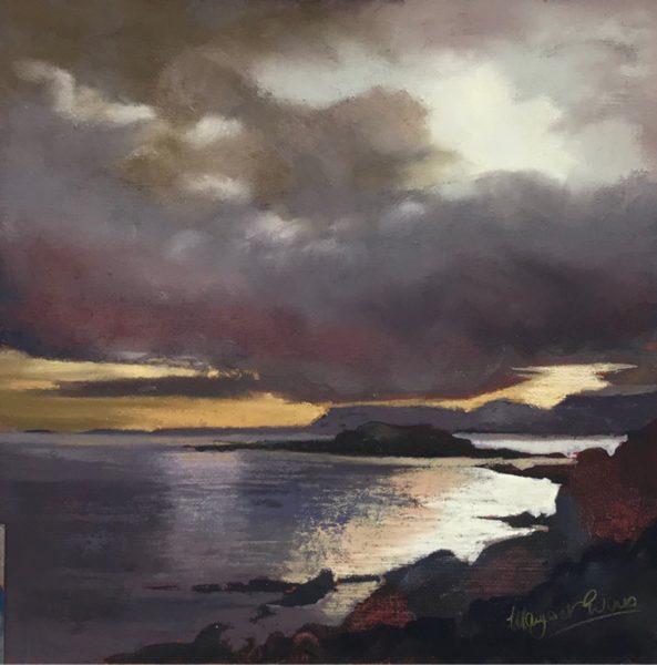 Margaret Evans_Calm Before Storm_Pastel & Gouache_12x12