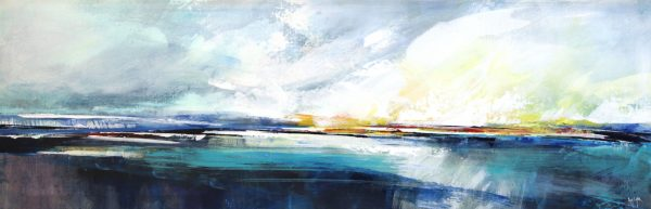 Poppy Cyster_The Warmth of the March Tide_Mixed Media_15x46.5