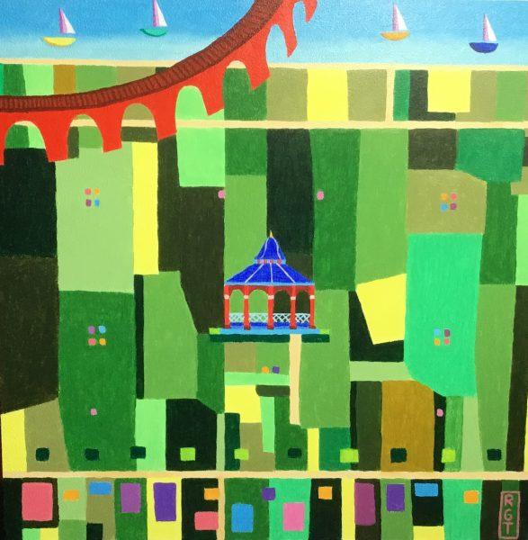 Ross Grant Thomson_Sunshine on Magdalen Green_Acrylics_12x12
