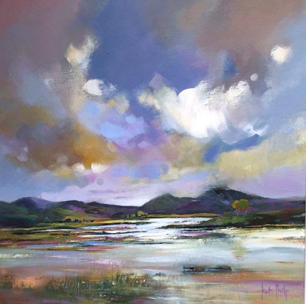 Kate Philp_Winter Light, Rannoch_Oils_16x16_24.5x24.5