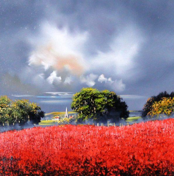 Alan Morgan_Harvest (Red 2)_Oil_12x12