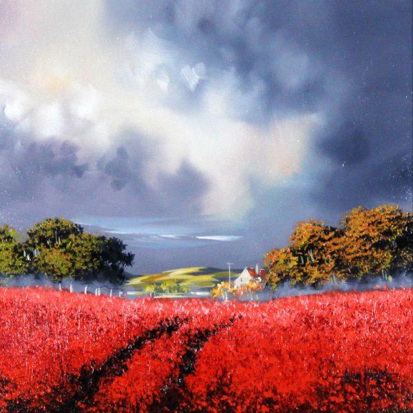 Alan Morgan_Harvest (Red)_Oil_12x12