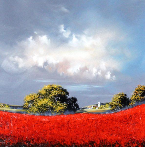 Alan Morgan_Harvest (Red)_Oil_16x16