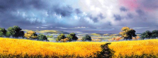Alan Morgan_Harvest (Yellow 2)_Oil_15x40