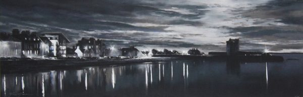 Fiona Haldane_Moonlight and Lamplight, Broughty Ferry_Print_14.5x44.75